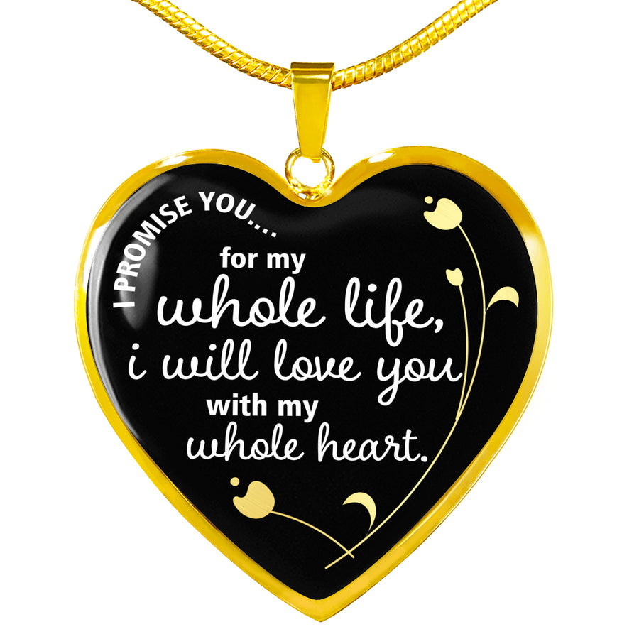 "Deluxe ""I Promise You"" Luxury Heart Necklace - Ustad Home"
