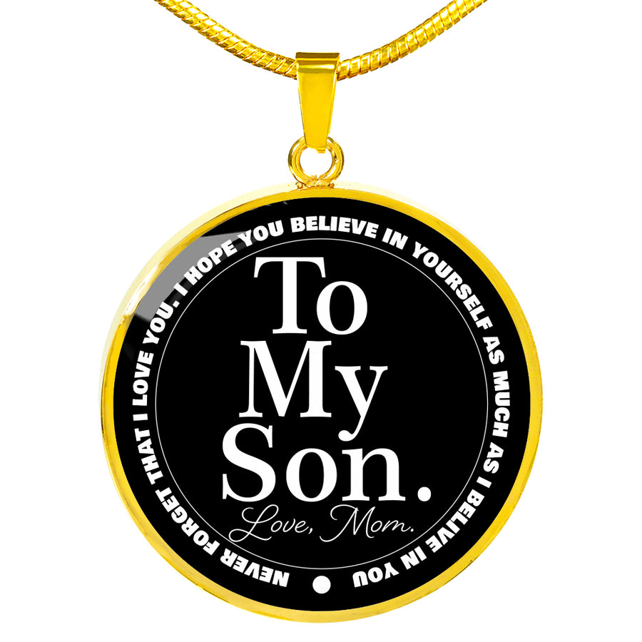 To My Son Luxury Circle Pendant Necklace - Ustad Home