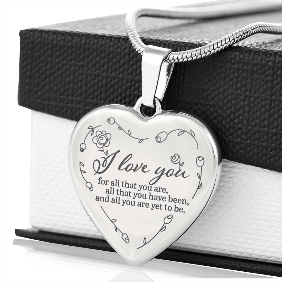 I Love You Luxury Heart Necklace - Ustad Home