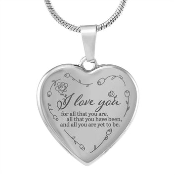 I Love You Luxury Heart Necklace