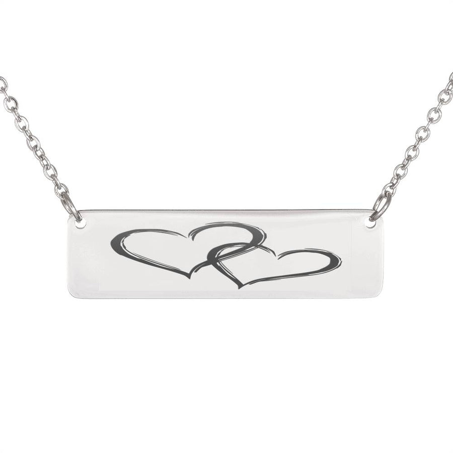 Couple Love Horizontal Bar Necklace - Ustad Home