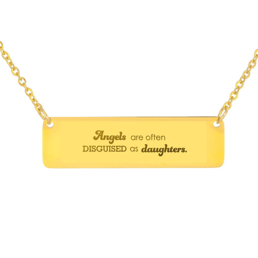 "Premium ""Angels Are Often Disguised As Daughters"" Luxury Necklace - Ustad Home"