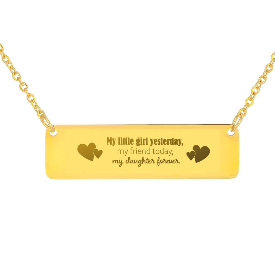 "Stunning Personalized ""My Daughter Forever"" Necklace - Ustad Home"