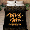 Classy Couple Blanket With Name & Wedding Year - Ustad Home