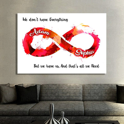 "Colorful ""ALL I NEED IS WITH YOU ALWAYS"" Canvas - Ustad Home"
