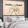 "Stunning ""INFINITE LOVE"" Couple Canvas - Ustad Home"
