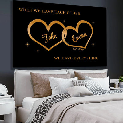 "Premium ""FOR THE CLOSEST ONE TO YOUR HEART"" Canvas - Ustad Home"