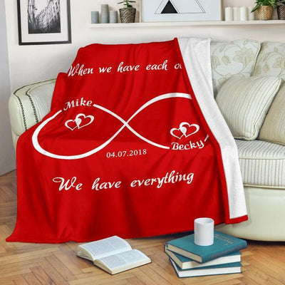 Infinity Love Personalized Couples Blanket - Ustad Home
