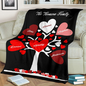 Special Family Tree Blanket