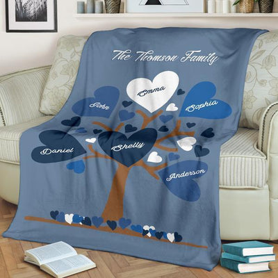 Special Family Tree Blanket - Ustad Home