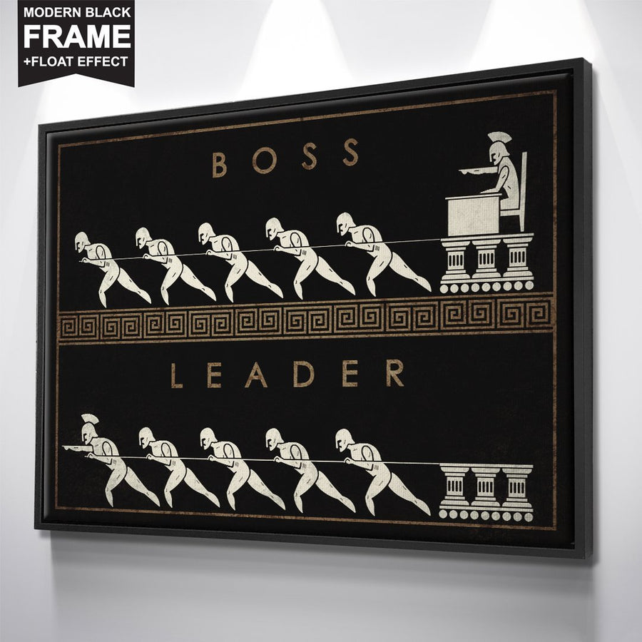 "Premium ""Boss vs. Leader"" Canvas - Ustad Home"
