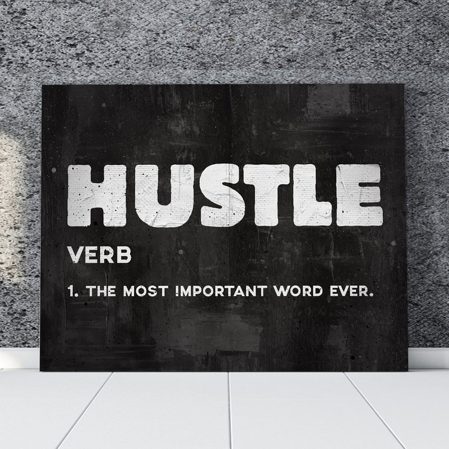 "Inspiring ""Hustle"" Canvas - Ustad Home"