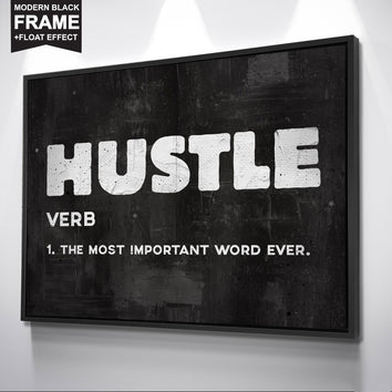 "Inspiring ""Hustle"" Canvas"