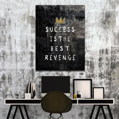 "Marvelous ""Success Is The Best Revenge"" Canvas - Ustad Home"