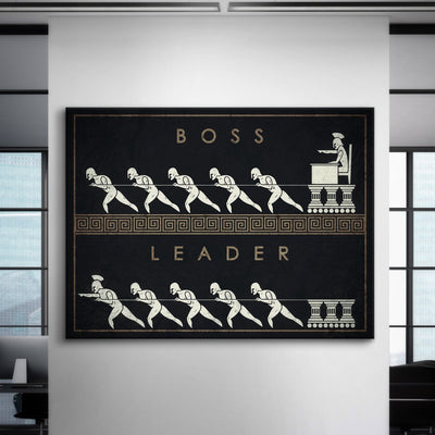 "Premium ""Boss vs. Leader"" Canvas"