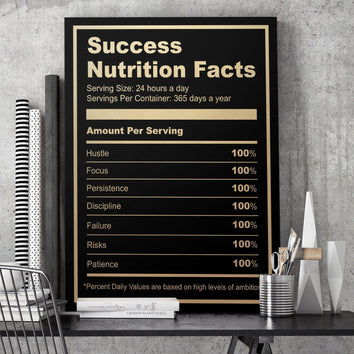 "Luxurious ""Ingredients For Success"" Canvas"