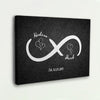 "Charming ""INFINITY LOVE"" Couple Canvas"