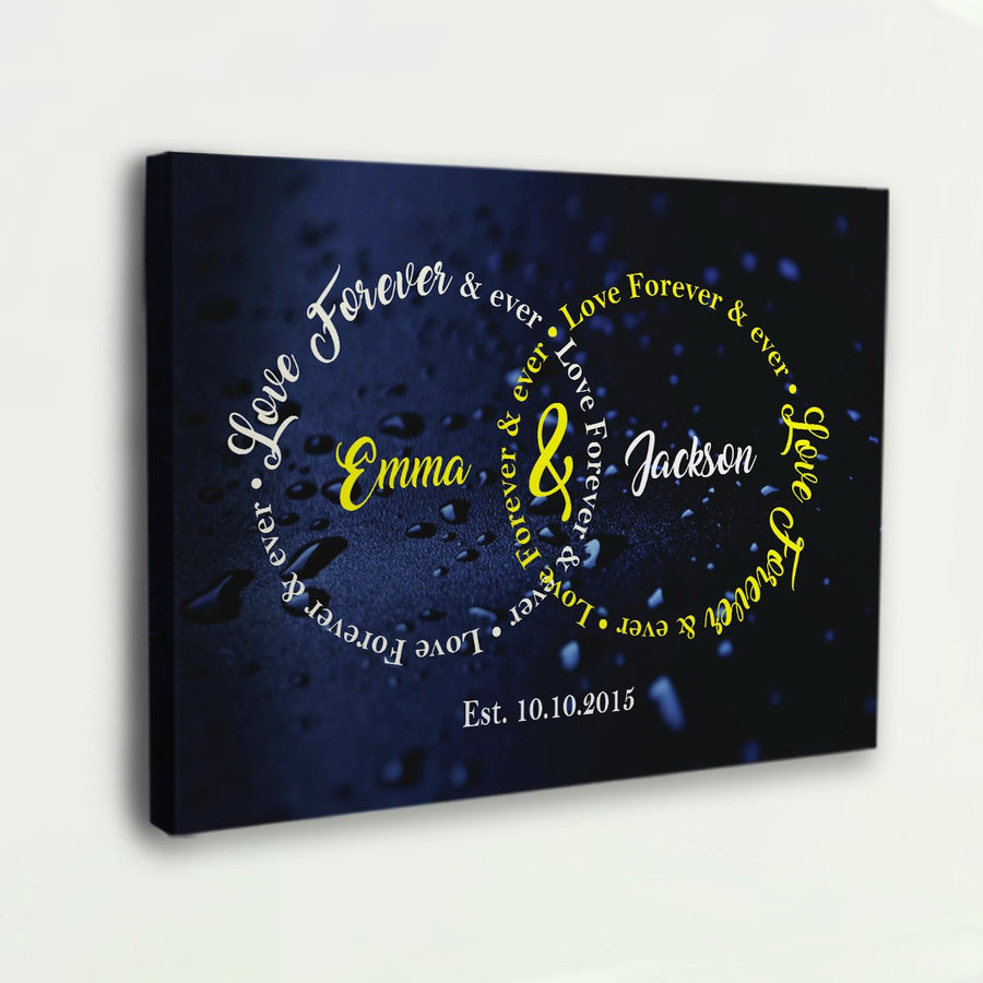 "Captivating "" Love Forever & Ever "" Exclusive Canvas - Ustad Home"