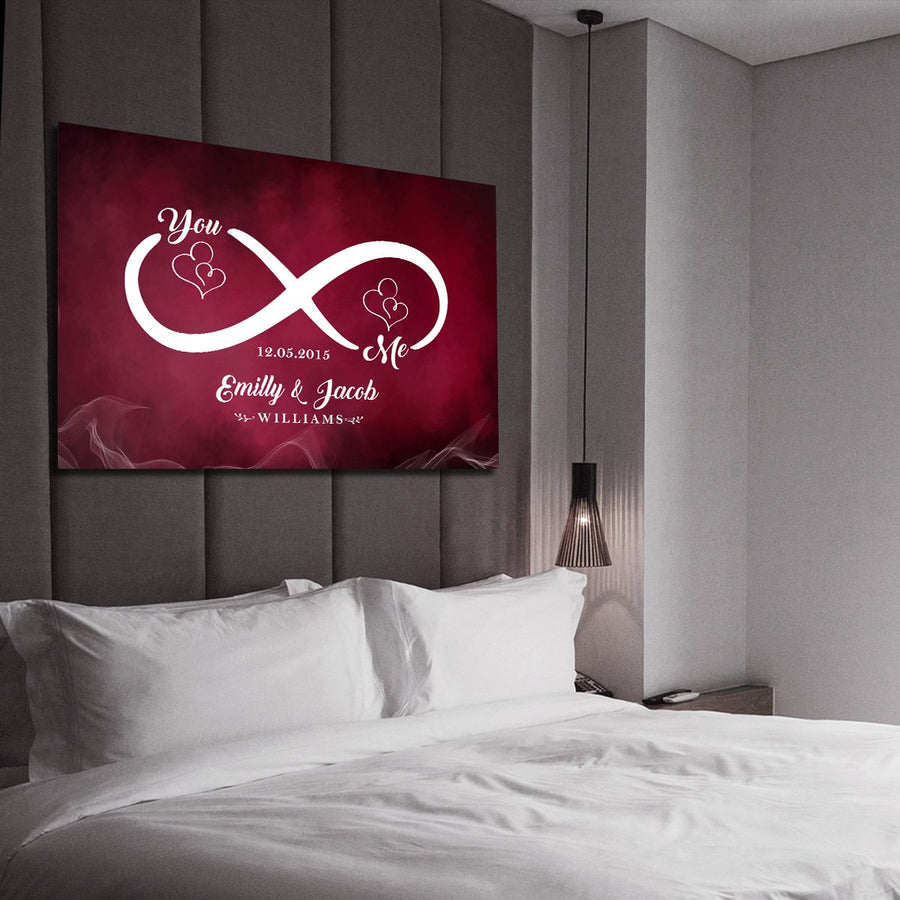 "Gorgeous ""LOVE EACH OTHER INFINITY"" Canvas - Ustad Home"