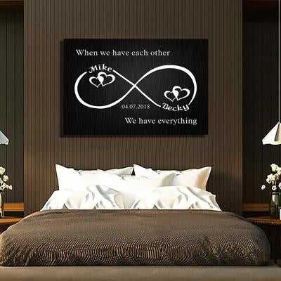 "Premium "" When We Have Each Other "" Canvas - Ustad Home"