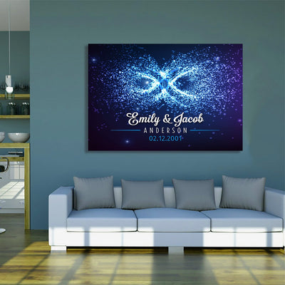 "Deluxe ""OUR LOVE IS LIKE INFINITE"" Canvas - Ustad Home"