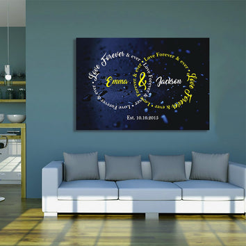 "Captivating "" Love Forever & Ever "" Exclusive Canvas"