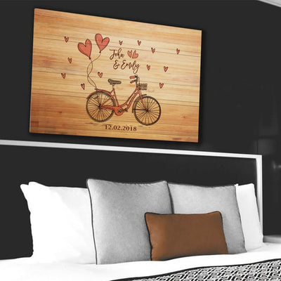 "Beautiful ""RIDING TOGETHER"" Couple Canvas - Ustad Home"