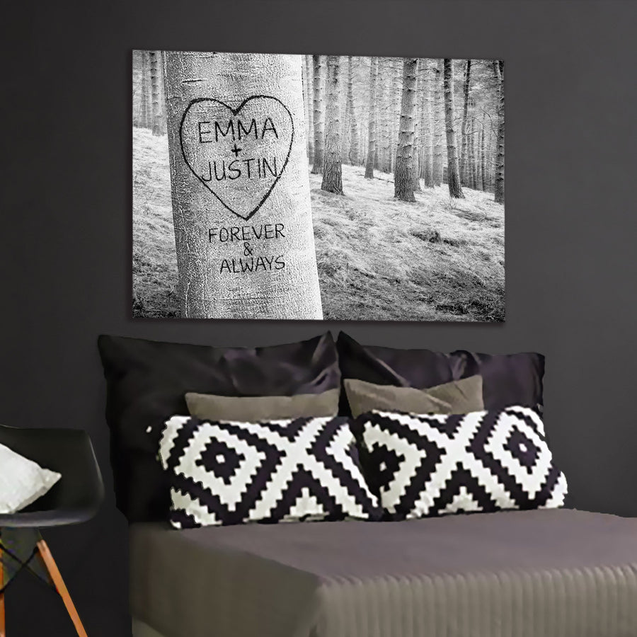 "Delightful ""FOREVER MY LOVE TREE"" Canvas - Ustad Home"