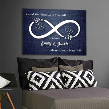 "Exclusive ""YOU & ME INFINITY LOVE"" Canvas"