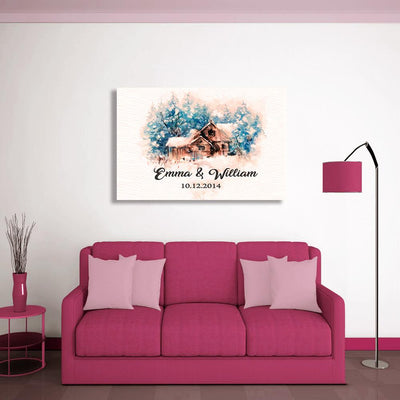 "Graceful ""COUPLE SWEET HOME"" Canvas - Ustad Home"