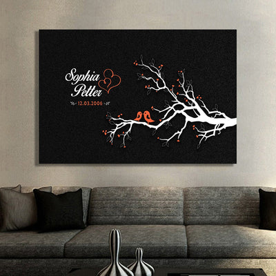 Love Birds Custom Luxury Canvas