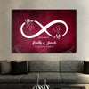 "Gorgeous ""LOVE EACH OTHER INFINITY"" Canvas"