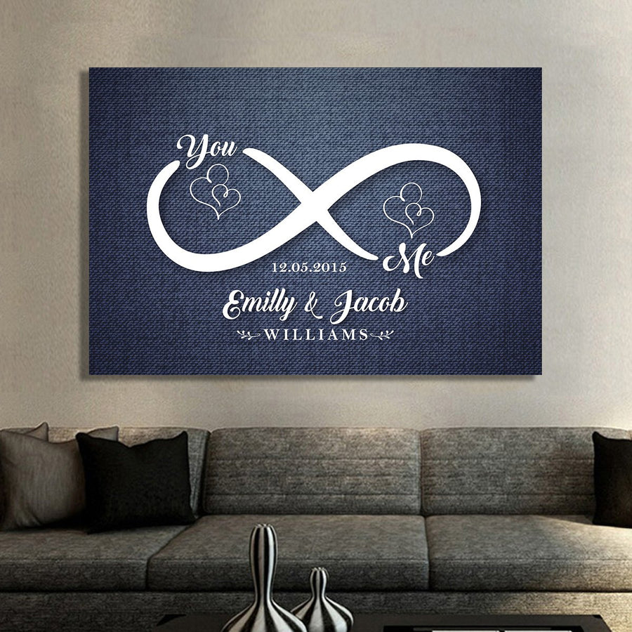 "Enchanting ""INFINITY LOVE"" Exclusive Canvas - Ustad Home"
