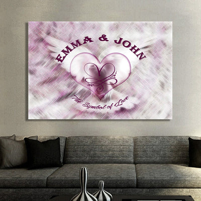 """Symbol of Love"" Exclusive Canvas - Ustad Home"