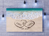 "Alluring ""LOVE ON BEACH"" Personalized Canvas"