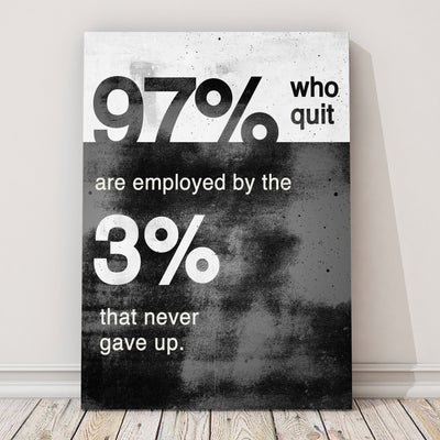 "Captivating ""Never Gave Up"" Canvas"