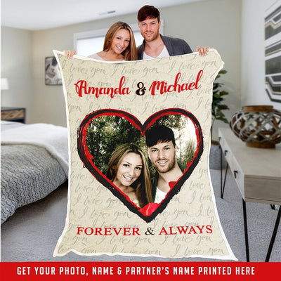 Personalize Premium Blanket For Your Love - Ustad Home