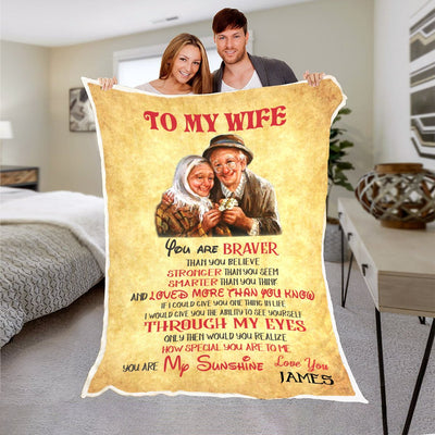"Premium "" You Are My Sunshine "" Personalized Blanket"