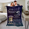 "Premium "" I Became Yours & You Became Mine "" Couples Blanket"