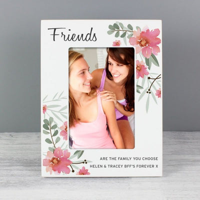 Premium Personalized Floral Wooden Photo Frame - Ustad Home