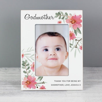 Premium Personalized Floral Wooden Photo Frame