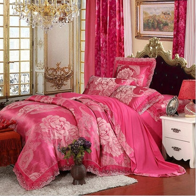Luxury Jacquard Bedding King Queen Sizen Duvet Cover Set - Ustad Home
