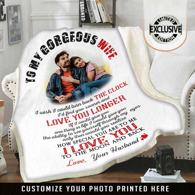 "Premium ""My Gorgeous Wife"" Photo Blanket"