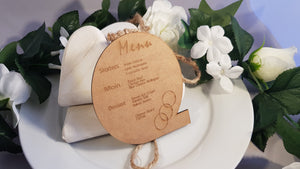 Laser Cut & Engraved Menus and Menu Boards