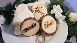 Cut Logs engraved with your requirement