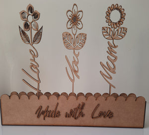 Mothers Day Word Flower Set