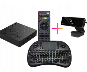 IPTV Smart WEB Box PRO S905W  4K Android 7 - MAXI PACK (Standard pack + keyboard + camera)
