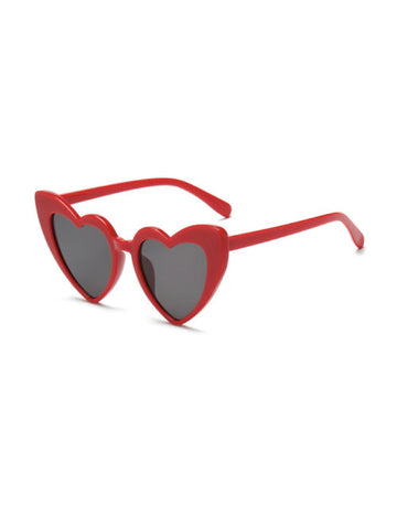 Love Eyes Sunglasses - Red