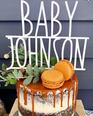 Custom Baby Shower Cake Topper 1