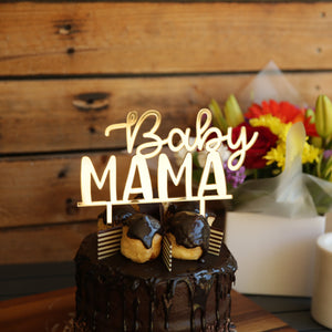 A gorgeous cake topper suitable for baby shower celebrations. With the word Baby in script and Mumma underneath. This 2 tier cake topper is available in a variety of coloured acrylics or bamboo ply.